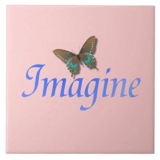 Imagine com azulejo da borboleta