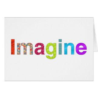 Imagine o cartão colorido da inspiração do