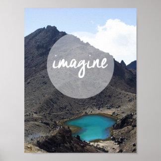 """""""Imagine"""" o poster inspirado Pôster"""