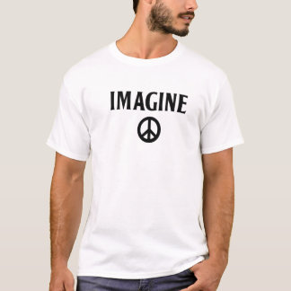 Imagine o t-shirt Beatles da paz o lennon de john