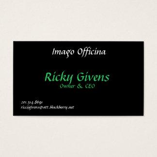 Imago Officina, Ricky Givens, proprietário & CEO, Cartão De Visitas