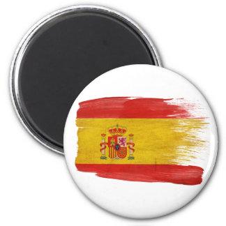 Ímãs da bandeira da espanha ímã redondo 5.08cm