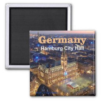Ímãs da lembrança da foto do viagem de Hamburgo Al Ímã Quadrado