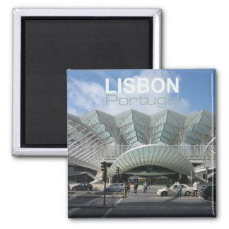 Imãs de geladeira da lembrança do viagem de Lisboa