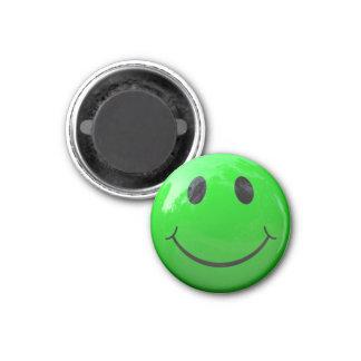 Ímãs do cacifo do smiley face do verde limão ímã redondo 2.54cm