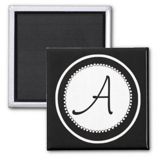 Ímãs do casamento do monograma ímã quadrado