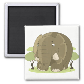 Ímãs do refrigerador do elefante ímã quadrado