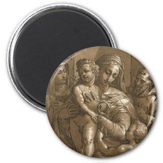 Ímãs do Virgin da criança e dos santos Ima