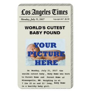 Ímãs feitos sob encomenda do anúncio do nascimento