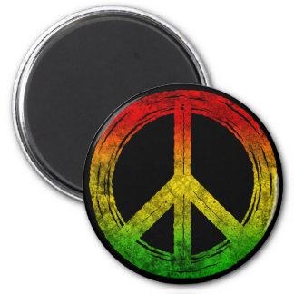 Ímãs legal do símbolo de paz de Rasta da reggae do Imã