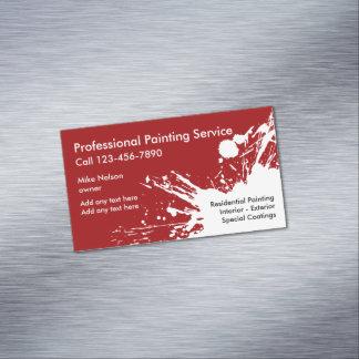 Ímãs profissionais do cartão de visita do pintor