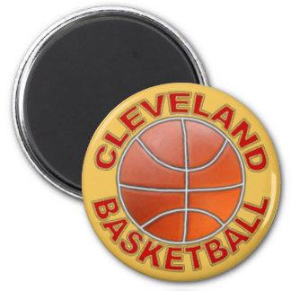 Ímãs redondos do basquetebol de Cleveland Ímã Redondo 5.08cm