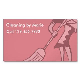 Ímãs retros do negócio da limpeza