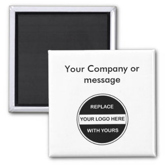 Ímãs vazios do logotipo do negócio ímã quadrado