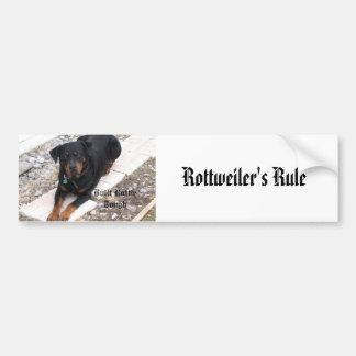 IMG_0867, a regra de Rottweiler Adesivo