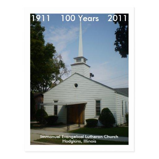 Immanuel 100 anos cartoes postais