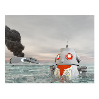 Impacto do robô no cartão do mar