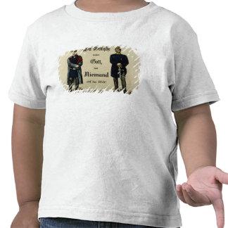 Imperador Wilhelm mim e príncipe Bismarck Tshirt