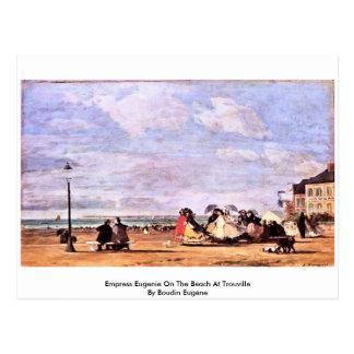 Imperatriz Eugenie na praia em Trouville Cartão Postal
