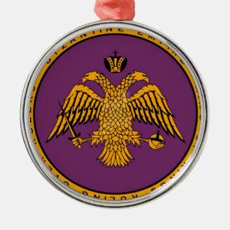 Império bizantino ornamento redondo cor prata