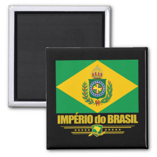 Império de Brasil Ímã Quadrado