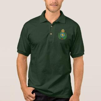 Império do pólo do emblema de Brasil Camisa Polo