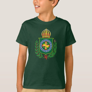 Império do t-shirt do emblema de Brasil Camiseta