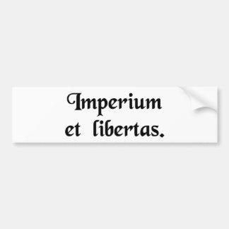 Império e liberdade adesivo para carro