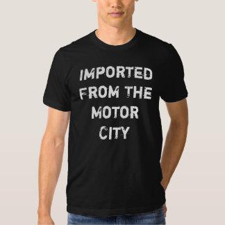 Importado da cidade do motor tshirt