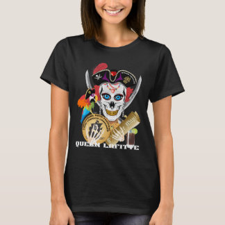 Importante da rainha Lafitte do pirata lido sobre Camiseta