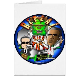 Imposto do doente de Obama Cartão Comemorativo