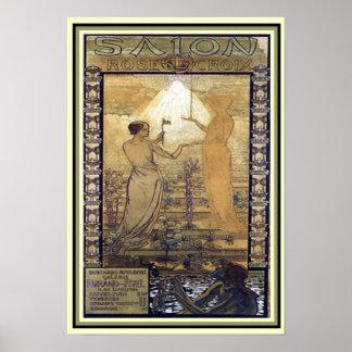 Impressão 13 x 19 de Croix da arte de Nouveau