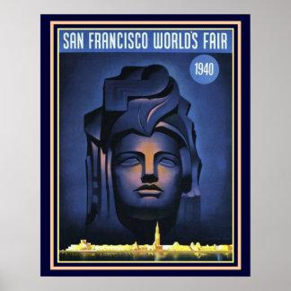 Impressão -16 x 20 da feira de mundo 1940 de San