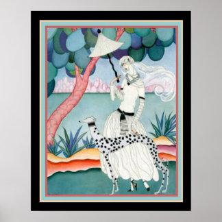 Impressão 16 x 20 do art deco de Helen Dryden
