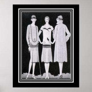 Impressão 16x20 da forma do art deco de Coles