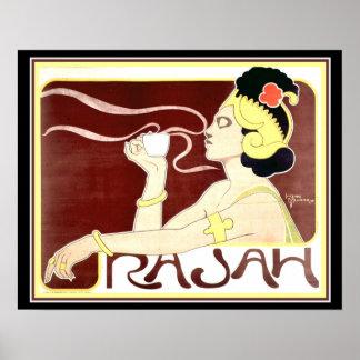 Impressão 1897 de Nouveau Rajah da arte pelo