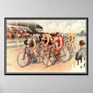 Impressão 1904 do poster da raça de bicicleta do v