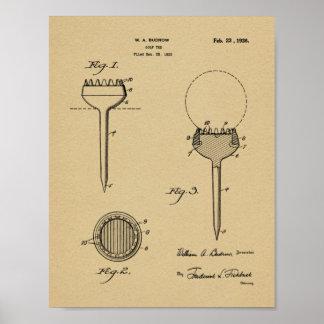 Impressão 1926 da arte da patente de design do T