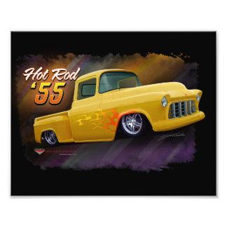Impressão 1955 do caminhão de Chevy Impressão De Foto