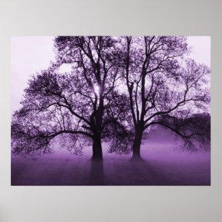 IMPRESSÃO - 2 árvores grandes roxas