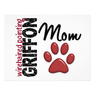 Impressão 2 da pata da mamã apontar Griffon Wireha Panfleto Coloridos