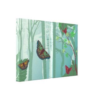 Impressão 2 das canvas da fantasia das borboletas impressão de canvas esticada