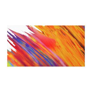 """Impressão """"abstrato"""" colorido #02 das canvas de"""