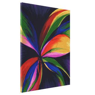 Impressão abstrato colorido das canvas de arte de impressão de canvas envolvidas
