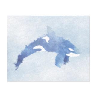 """Impressão abstrato da orca do azul - canvas (20"""""""