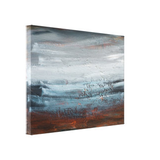 Impressão abstrato das belas artes da paisagem em