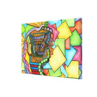Impressão abstrato das canvas da aguarela do
