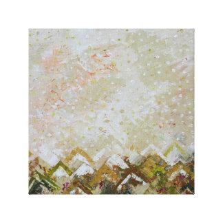 Impressão abstrato das canvas da arte 2 da cor de