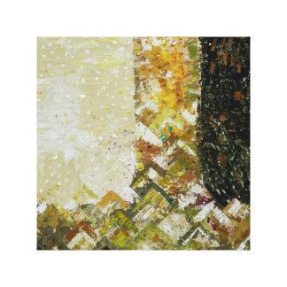 Impressão abstrato das canvas de arte da cor de