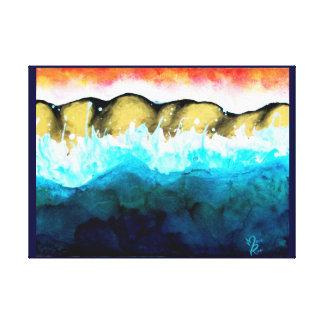 impressão abstrato das canvas de Seacape